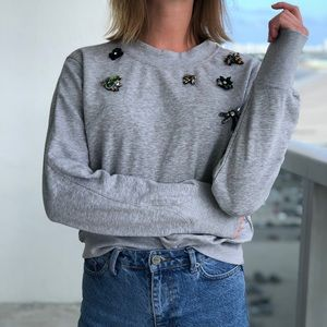Sweaters - Hooded relaxed jacket